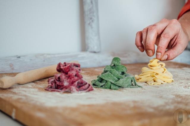 tagliatelles colorées faites maison recette
