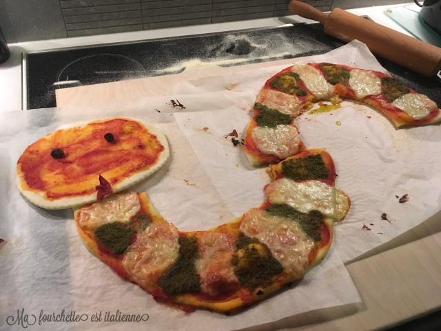 Recette pizza facile et rigolote