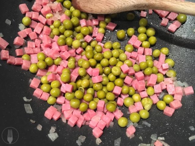 Recette pappardelles petits pois et jambon