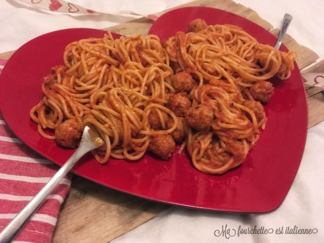 Recette spaghettis aux boulettes