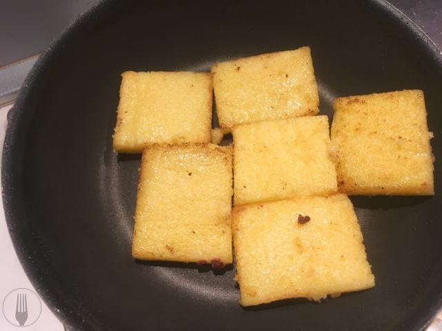 Recette polenta artichauts pancetta