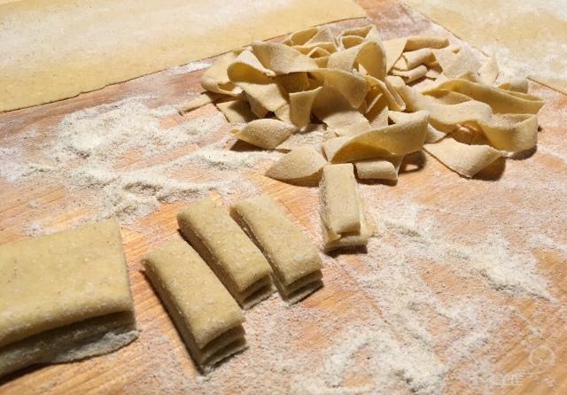 Recette tagliatelles crème de courgettes et burrata