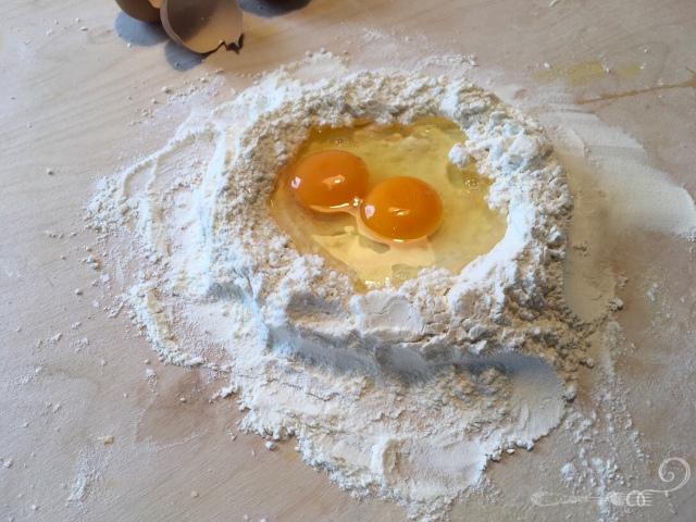 Recette raviolis au provolone sur crème d'asperges