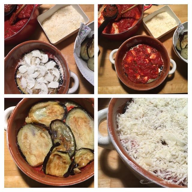 Recette italienne parmigiana d'aubergines