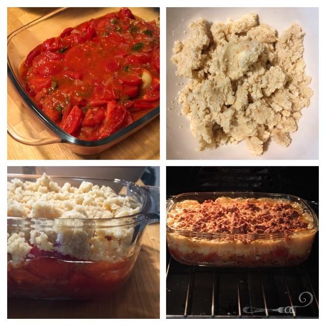 Recette italienne crumble aux tomates