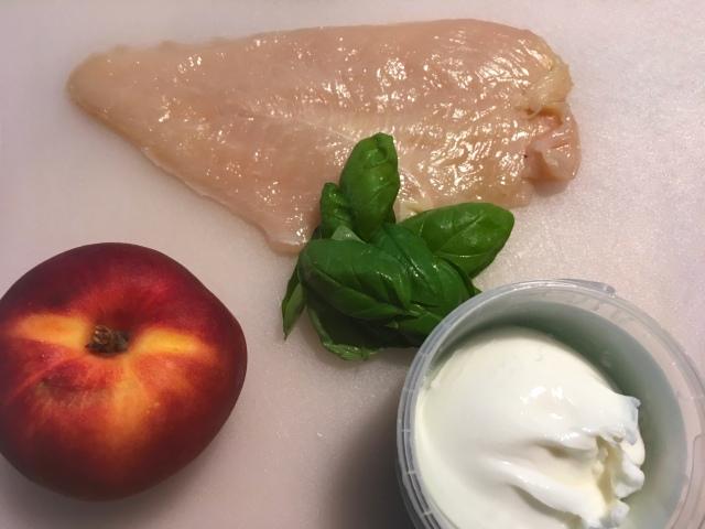 Salade poulet nectarine et burrata