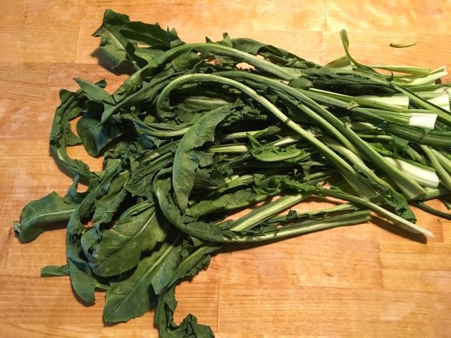 Recette des pouilles purée de fèves et chicorée