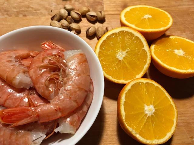 Recette scampis aux pistaches