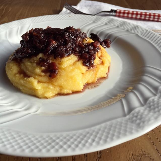 Recette joues de porc et polenta - ganassino