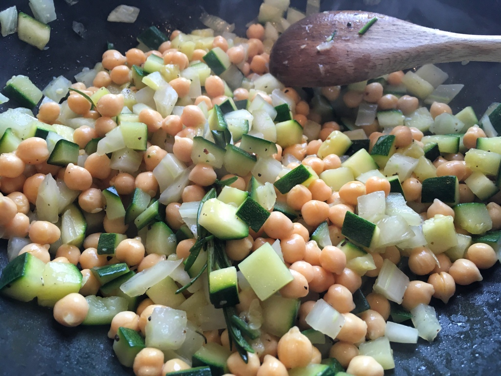 Recette salade pois chiches et courgette